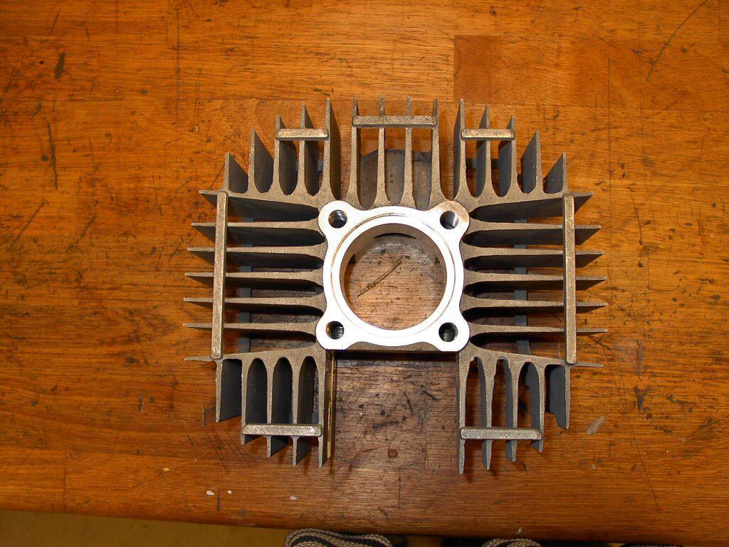 Cylinder set skråt ovenfra